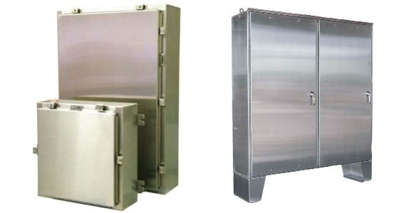 EMF steel and stainless steel enclosures